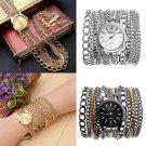 Geneva Fashion Women Watch Sparkling Manual Chain Quartz Bracelet Wrist Watch