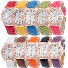 Women's Watch Diamond Faux Leather Rhinestone Quartz Analog Wrist Fashion Watch