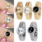 New Fashion Lady Stainless Steel Crystal Dial Quartz Analog Luxury Wrist Watch