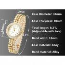 Fashion Women's Crystal Bracelet Stainless Steel Analog Quartz Wrist Watch New