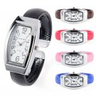 Elegant Women's Quartz Analog Wrist Watch Cuff Bangle Bracelet Band Watch Gift
