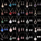 Fashion Rhinestone Necklace Earrings Charm New Set Crystal Women Wedding Jewelry