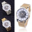 New Luxury Women Men Wrist Watches Stainless Steel Analog Quartz Mesh Watches