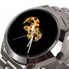 Luxury Men's Black Skeleton Stainless Steel Automatic Mechanical Wrist Watch