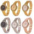 Elegant Women Girl Bling Diamond Stainless Steel Analog Quartz Wirst Watch