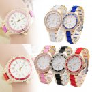 Fashion New Analog Quartz Watches Women Stainless Steel Crystal Dial Wrist Watch