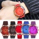 Fashion Women's Dress Watch Ladies Leather Diamond Analog Quartz Wrist Watches