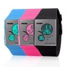 Fashion Women Men LED Waterproof 5ATM Rubber Bracelet Digital Sport Wrist Watch