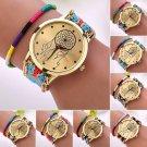Women Creative Dreamcatcher Friendship Wrist Watches Braid Dress Bracelet Watch