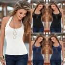 Summer Women Backless Vest Top Halter Sleeveless Blouse Casual Tank Tops T-Shirt