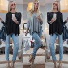 Fashion Women Casual Long Sleeve Top Shirt Vest Tank Loose T-Shirt Tops Blouse