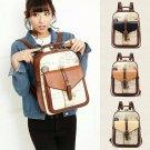 Girl Women Travel Casual PU Leather Shoulder School Bag Vintage Backpack Satchel