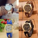 Women's Geneva Silicone Watch Fashion Analog Quartz Chain Wrist Watch