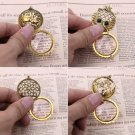 Vintage Chain Magnifying Glass New Necklace Pendant Grandma Gift