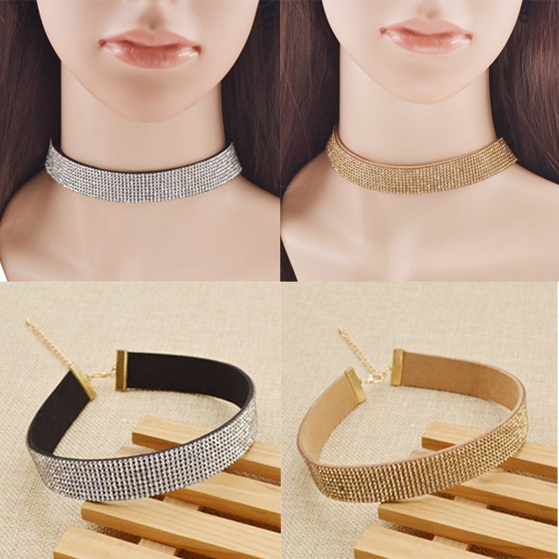 Boho Women Charm Rhinestone Crystal Collar Choker Necklace Bib Jewelry Gift NEW