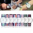 New Women Men Geneva Fabric Nylon Canvas Band Military Dial Quartz Wrist Watch