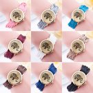 Vintage Women's Elephant Rope Winding Leather Quartz Bracelet Dress Wrist Watch