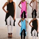 Fashion Women Ladies Casual Sleeveless Vest Blouse Summer Shirt Long Tops Dress