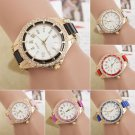 Women Fashion Stainless Steel Dial Strap Crystal Analog Quartz Casual Watch