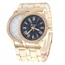 Women Formal Crystal Stainless Steel Watch Quartz Analog Alloy Wrist Watches