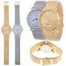 Geneva Women's Fashion Watch Stainless Steel Band Analog Quartz Wrist Watch