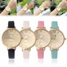Geneva Women Fashion Watch Roman Numerals Thin Leather Band Dress Wrist Watches