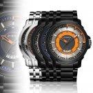 Men's Watch Round Dial Calendar Stainless Steel Analog Quartz Wrist Watch