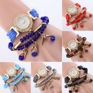 Fashion Women's Rhinestone Bracelet Quartz Bracelet Wristwatch Ladies Watch