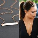 Simple Gold Chain Choker Statement Bib Necklace Women Jewelry Charm Pendant New
