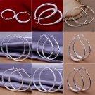 Women's Charm Jewelry 925 Silver Sterling vintage Dangle Earrings Elegant Stud