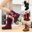 New Women's Ladies Winter Warm Snow Boots Thicken Fur Scrub Suede Shoes Boots