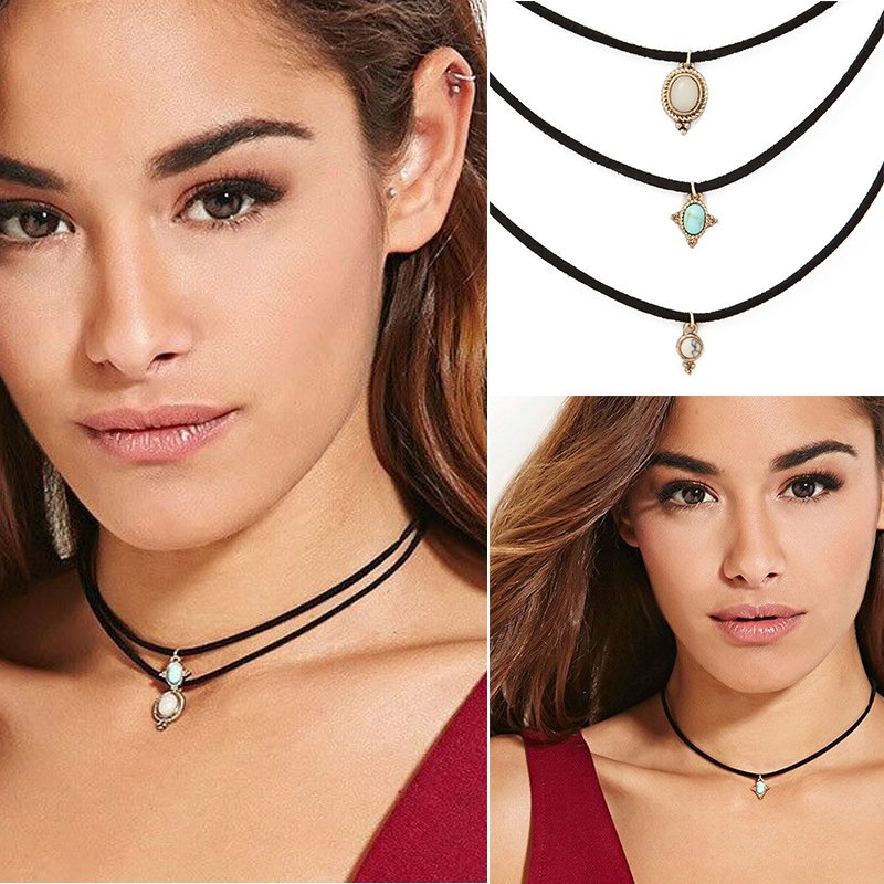 Fashion Jewelry Vintage Women Chain Pendant Statement Choker Collar Bib Necklace