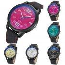 Fashion Women's Leather Stainless Steel Date Sports Quartz Analog Wrist Watches