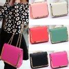 Fashion Women PU Leather Handbag Messenger Crossbody Purse Chain Shoulder Bag