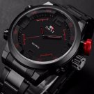 Luxury Stainless Steel Date Analog Dress Men's Sport Quartz Watches Waterproof