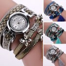 Trendy Women's Fashion Leopard Leather Analog Quartz Bracelet Dress Wrist Watch