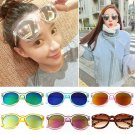 Fashion New Women's Reflective Mirrored Round Lens Sunglasses Ladies Sunglasses