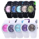 Women Silicone Jelly Watches Casual Sport Calendar Wrist Watches Gilrs Gift