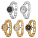 Fashion Crystal Dial Stainless Steel Chain Bracelet Analog Quartz Wirst Watch