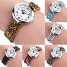 Chic Women Girl Fashion Watch Bracelet Dress Crystal Leather Quartz WristWatch