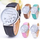 Fashion Funny Women's Men's Wrist Watches Whatever I'm Late Anyway Watches