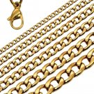 Fashion 18K Yellow Gold Plated Necklace Elegant Curb Shape Link Chain Women NEW