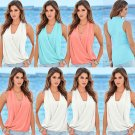 Women Summer Fashion Sleeveless Vest Top Blouse Casual Tank Tops T-Shirt Blouse