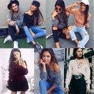 Women Casual Long Sleeve Hoodie Jumper Pullover Sweatshirt Tops Shirt Fashion