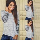Fashion Womens Long Sleeve Shirt Casual Lace Blouse Loose Cotton Tops T Shirts