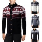 Christmas New Men's Winter Sweater Cardigan Jacket Button Down Knitwear Jumper
