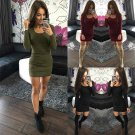 Fashion Women Long Sleeve Tops Casual Blouse T Shirt Slim Party Short Mini Dress