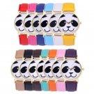 Cute Geneva Faux Leather Band Watch Fashion Panda Quartz Wrist Women Watch