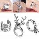 New Merry Christmas Gifts Charm Halloween Ring Size 7 Unisex Xmas Party Jewelry