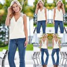 Fashion Women Summer Casual Vest Top Sleeveless Blouse Tank Tops T-Shirt Blouse